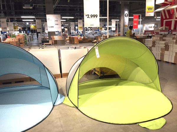 このテントがまさかの2,999円です。