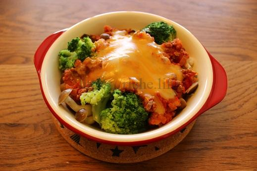 腸活レシピ5きのことブロッコリーの豆腐グラタン
